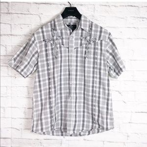 Roar Embroidered S/S Button Up Shirt